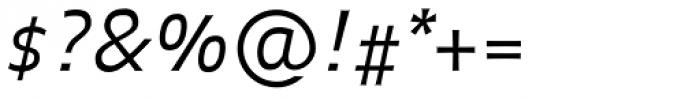 FF Balance OT Light Italic Font OTHER CHARS
