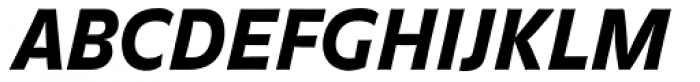 FF Balance Pro Black Italic Font UPPERCASE