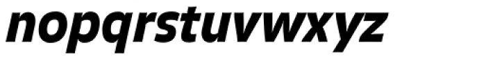 FF Balance Pro Black Italic Font LOWERCASE