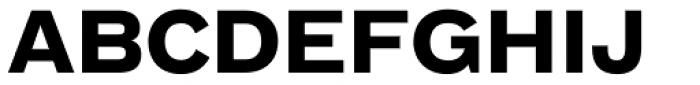 FF Bau Std Bold Font UPPERCASE