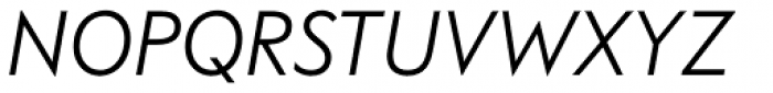 FF Bauer Grotesk OT Italic Font UPPERCASE