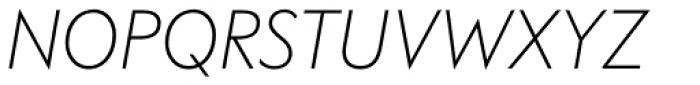 FF Bauer Grotesk OT Light Italic Font UPPERCASE