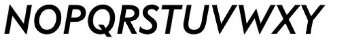 FF Bauer Grotesk OT Medium Italic Font UPPERCASE