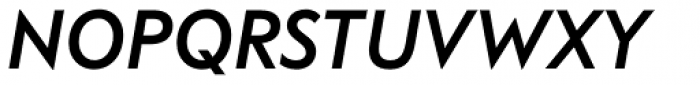 FF Bauer Grotesk Pro Medium Italic Font UPPERCASE