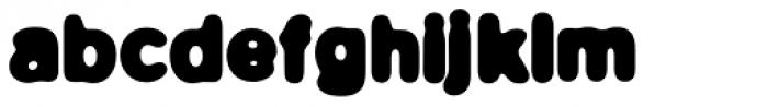 FF Blur OT Bold Font LOWERCASE