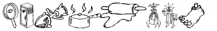 FF Bokka Drawings One Font UPPERCASE