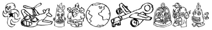FF Bokka Drawings One Font LOWERCASE