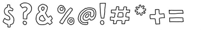 FF Bokka Outline Font OTHER CHARS