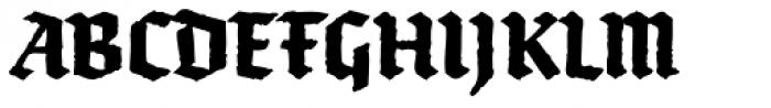 FF Brokenscript Rough OT Condensed Bold Font UPPERCASE