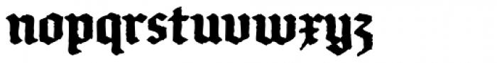 FF Brokenscript Rough OT Condensed Bold Font LOWERCASE