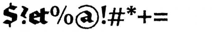 FF Brokenscript Rough Std Bold Font OTHER CHARS