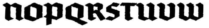 FF Brokenscript Rough Std Bold Font UPPERCASE