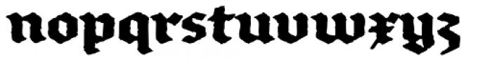 FF Brokenscript Rough Std Bold Font LOWERCASE