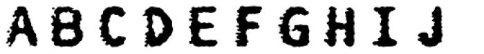 FF Burokrat One OT Font LOWERCASE