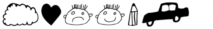 FF Childs Play Dingbats OT Font UPPERCASE