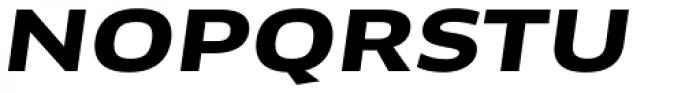FF Clan OT Extd Bold Italic Font UPPERCASE