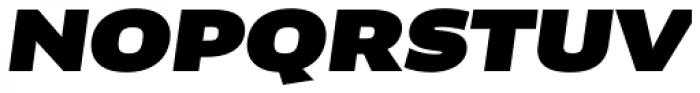 FF Clan OT Extd Ultra Italic Font UPPERCASE