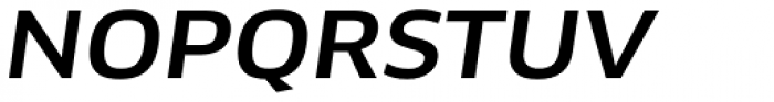 FF Clan OT Wide Medium Italic Font UPPERCASE