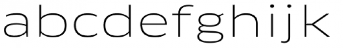 FF Clan Pro Extd Thin Font LOWERCASE