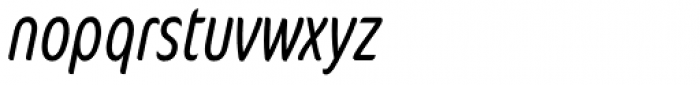 FF Cocon OT ExtraCond Light Italic Font LOWERCASE
