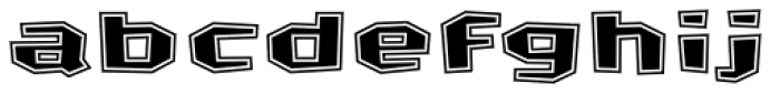 FF Crash Bang Wallop Contoured OT Font LOWERCASE