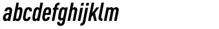 FF DIN OT Cond Bold Italic Font LOWERCASE