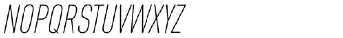 FF DIN OT Cond ExtraLight Italic Font UPPERCASE