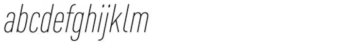 FF DIN OT Cond ExtraLight Italic Font LOWERCASE