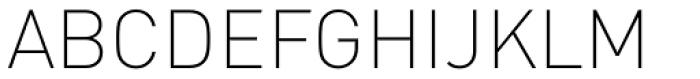 FF DIN OT ExtraLight Font UPPERCASE