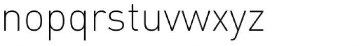 FF DIN OT ExtraLight Font LOWERCASE