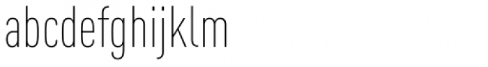 FF DIN Pro Cond ExtraLight Font LOWERCASE
