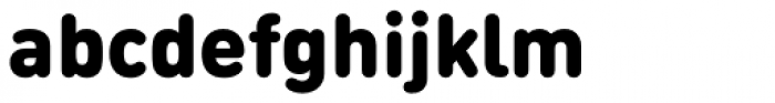 FF DIN Round Pro Black Font LOWERCASE