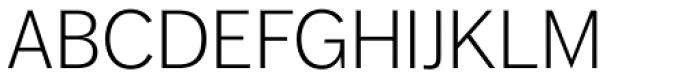 FF Dagny OT Light Font UPPERCASE