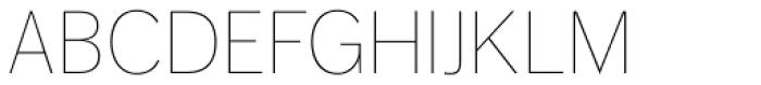 FF Dagny OT Thin Font UPPERCASE