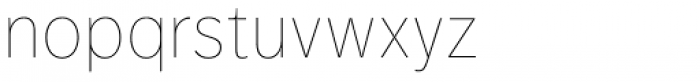 FF Dagny OT Thin Font LOWERCASE