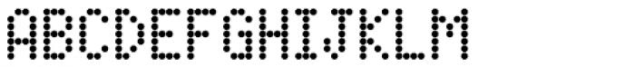 FF Dot Matrix OT Two Narrow Font UPPERCASE