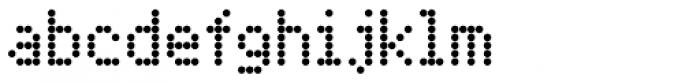 FF Dot Matrix OT Two Narrow Font LOWERCASE