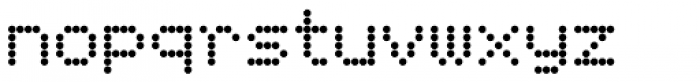 FF Dot Matrix OT Two Regular Font LOWERCASE