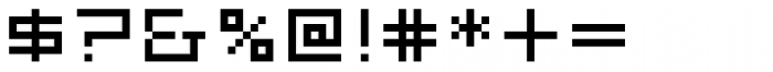 FF Eboy OT EXT Beta Font OTHER CHARS