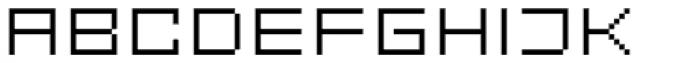 FF Eboy OT EXT Gamma Font UPPERCASE