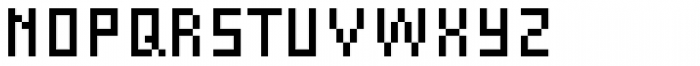 FF Eboy OT REG Beta Font UPPERCASE