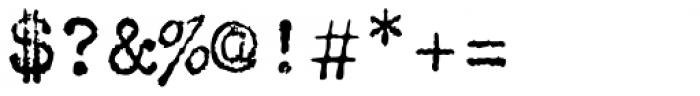 FF Elementa Rough Std Regular Font OTHER CHARS