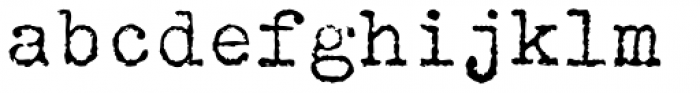FF Elementa Rough Std Regular Font LOWERCASE