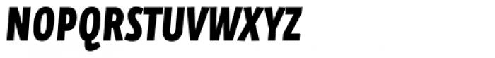 FF Eureka Sans OT Cond Black Italic Font UPPERCASE