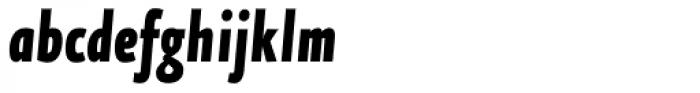 FF Eureka Sans OT Cond Black Italic Font LOWERCASE