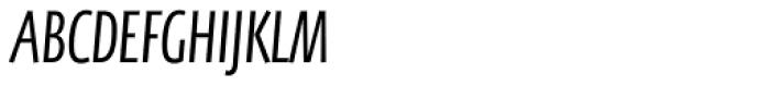 FF Eureka Sans OT Cond Light Italic Font UPPERCASE