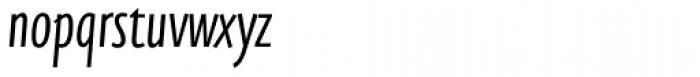 FF Eureka Sans OT Cond Light Italic Font LOWERCASE