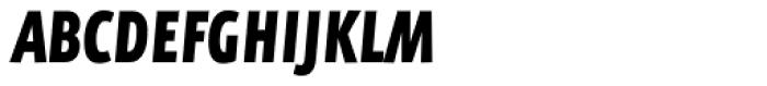 FF Eureka Sans Offc Condensed Black Italic Font UPPERCASE