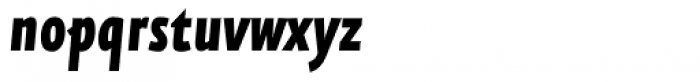 FF Eureka Sans Offc Condensed Black Italic Font LOWERCASE