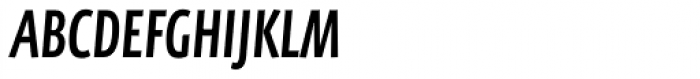 FF Eureka Sans Pro Cond Medium Italic Font UPPERCASE